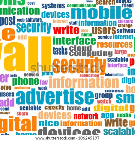 Word cloud tags concept illustration of social media. Raster - stock photo