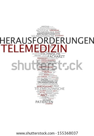Word Cloud - Telemedicine - stock photo