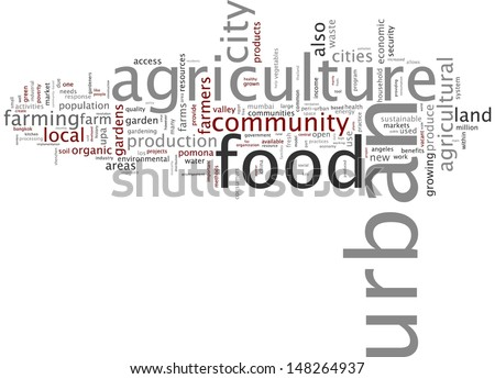 Word cloud - urban agriculture - stock photo