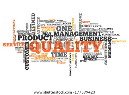 Word Cloud with Quality related tags - stock photo