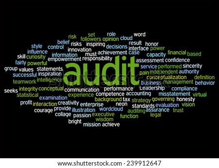 Word Clouds Of Audit And Its Related Words  - stock photo