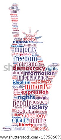 Word collage of democracy concept - stock photo
