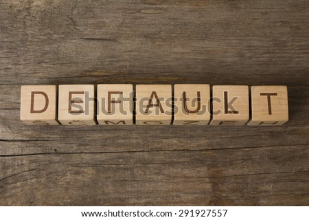 word DEFAULT on a wooden cubes - stock photo