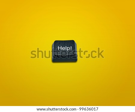 Word Help Made From Computer Keyboard Keys, keyboard buttons with ideas. - stock photo