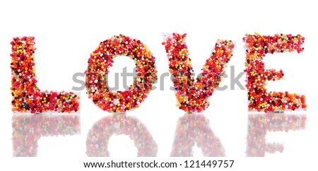 Word Love isolated on white - stock photo