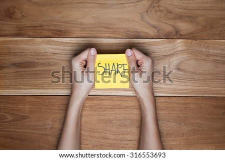 """Word of """" Share """" - stock photo"""