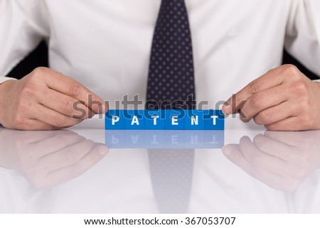 Word PATENT with blocks - stock photo