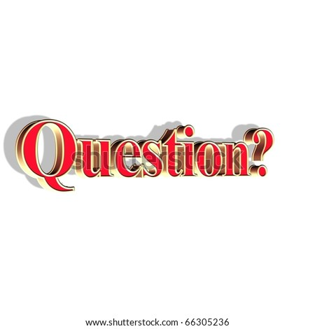 word question - stock photo