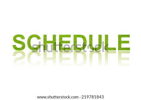 word SCHEDULE in white background - stock photo