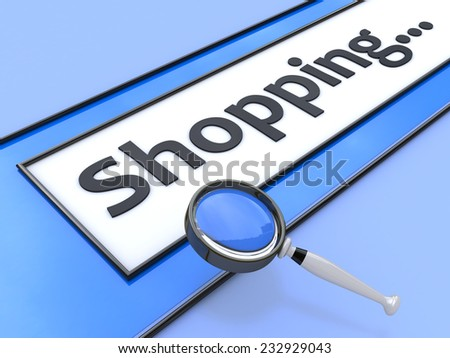 Word Shopping written in search bar on virtual screen  - stock photo