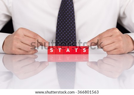 "Word ""STATS"" with blocks - stock photo"