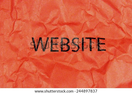 word website on red paper - stock photo