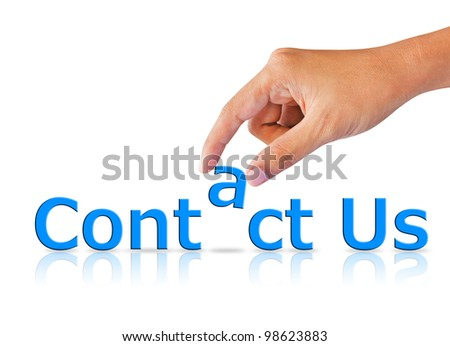 Words Contact us - stock photo