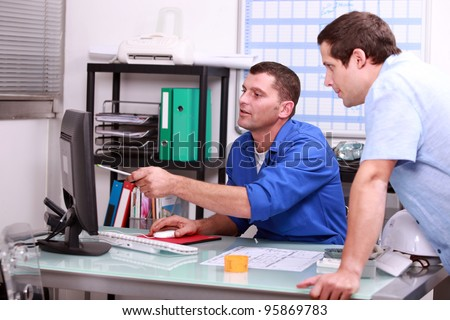 work appointment - stock photo