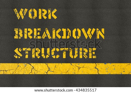 Work Breakdown Structure concept in construction industry - stock photo