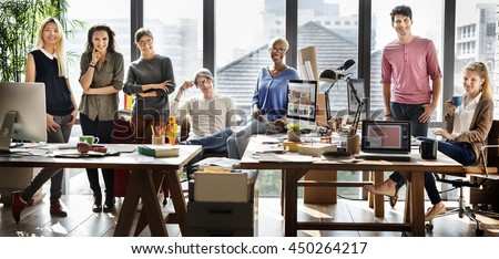 Work Business Team Colleagues Meeting Concept - stock photo