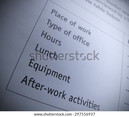 Work form - stock photo