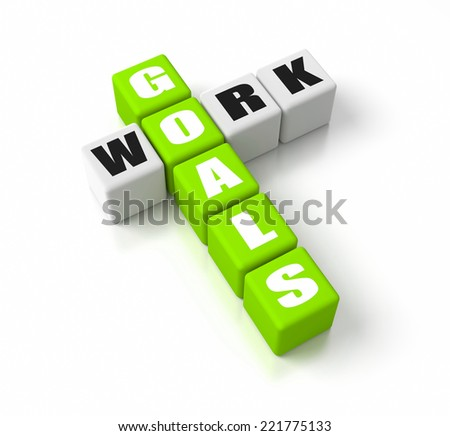 Work Goals crosswords. Part of a business concepts series. - stock photo