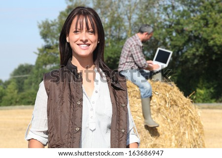 Work in field - stock photo
