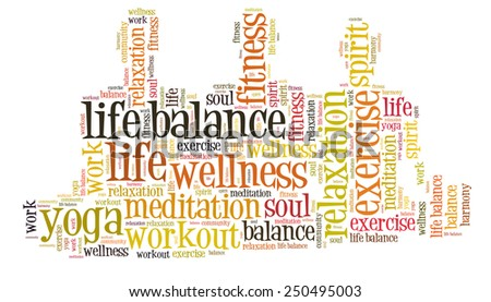 work life balance and well being - stock photo