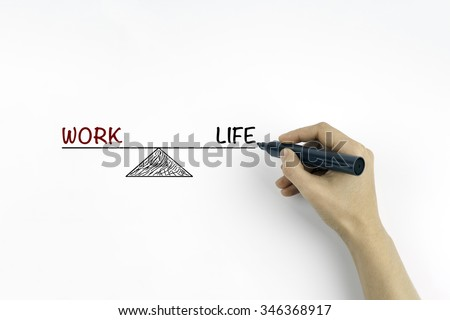 Work Life Balance. Business and Lifestyle Concept - stock photo