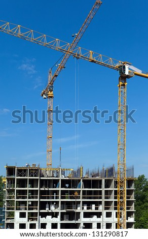 Work on a building area - stock photo