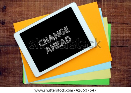 work on the tablet - stock photo