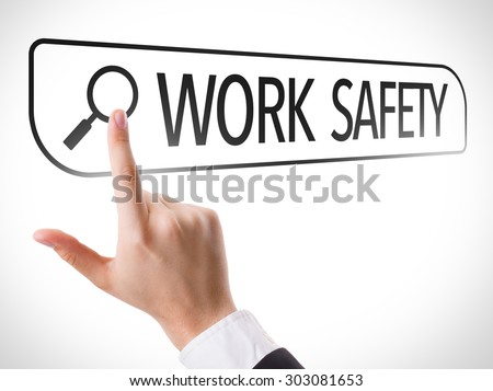 Work Safety written in search bar on virtual screen - stock photo
