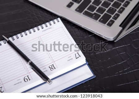 work space - IT project planning - stock photo