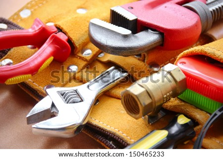 Work tools background. - stock photo