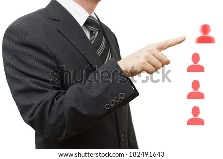 workers gets fired by  manager - stock photo
