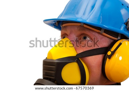Workers with protective equipment - stock photo