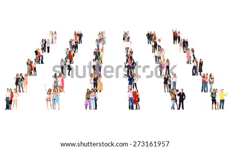 Workforce Concept Together we Stand  - stock photo