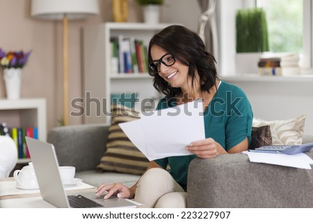 Working at home can by pleasure   - stock photo