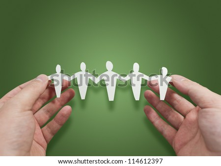 Working Better Together - People Symbol - stock photo