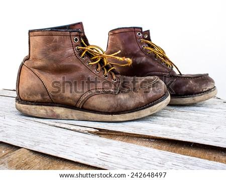 working boot - stock photo