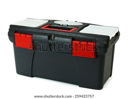 Working box . Working box on white background. - stock photo