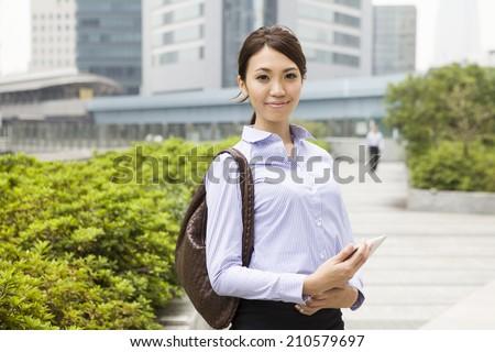 Working career woman - stock photo