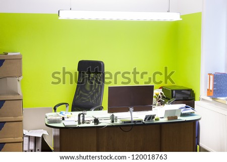 working from home in a modern home office. - stock photo