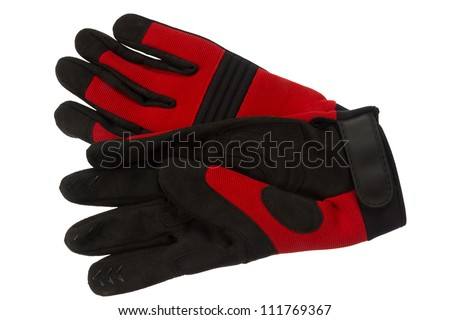 Working gloves, isolated on background - stock photo