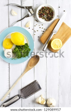 Working in the kitchen - stock photo
