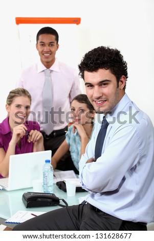 Working meeting - stock photo
