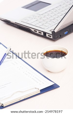 working place of a business person - stock photo