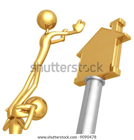 Working Together For Golden Home - stock photo
