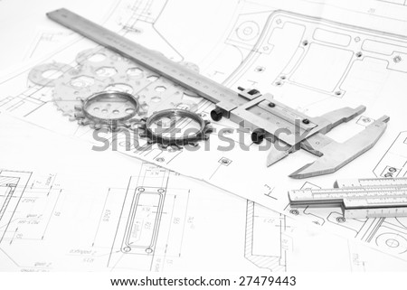 Working tools and details - stock photo
