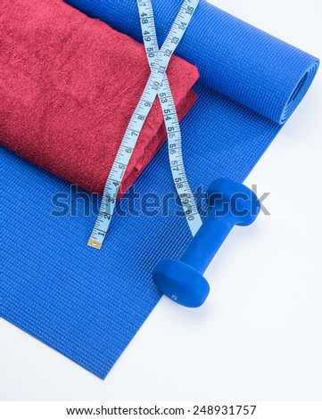 Workout tools for healthy lifestyle results - stock photo