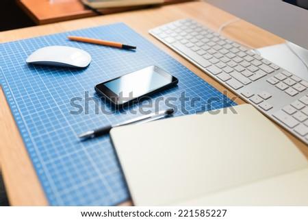 Workplace web designer or developer.  - stock photo