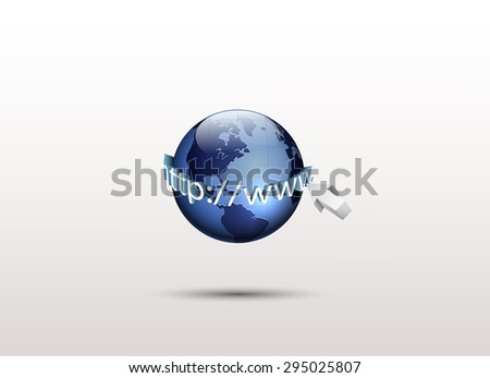 World and http://www, Global internet technology - stock photo