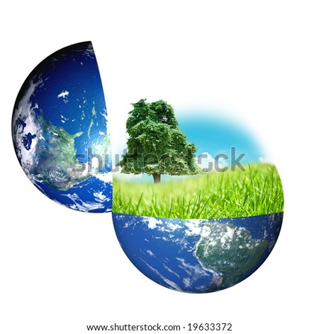 World and nature concept - stock photo