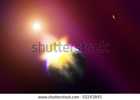World apocalypse - stock photo